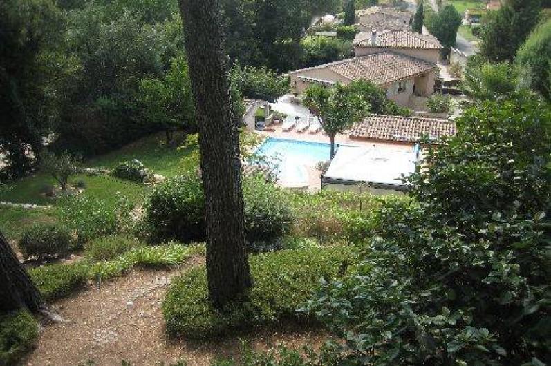 Location de vacances - Appartement à Aix-en-Provence - Vue plongeante de la propriété