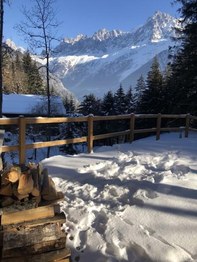 Location de vacances - Chalet à Chamonix-Mont-Blanc - La Terrasse de 50 m2