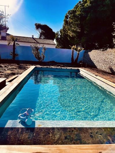 Location de vacances - Villa à Le Bois-Plage-en-Ré - Villa Bois Plage - Piscine chauffée avec volet électrique