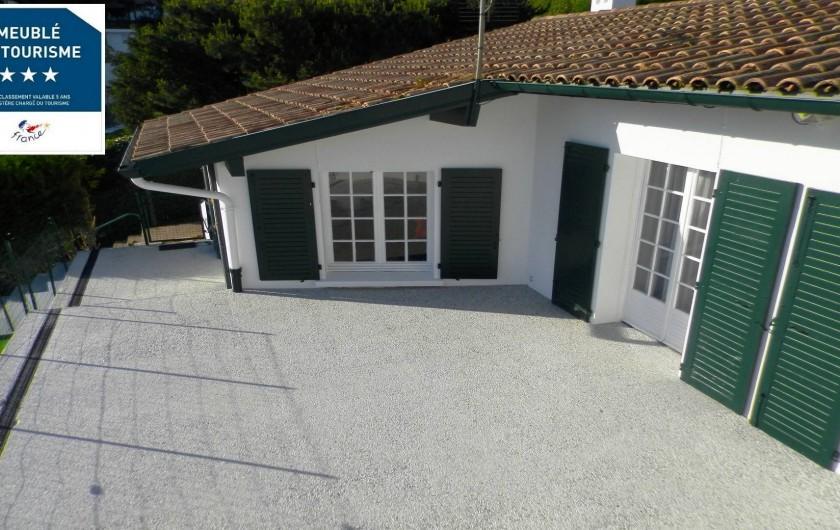 Location de vacances - Villa à Ciboure - terrasse de 100 m2 face ocean