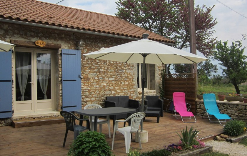 Location de vacances - Gîte à Sorges et Ligueux en Périgord - terrasse