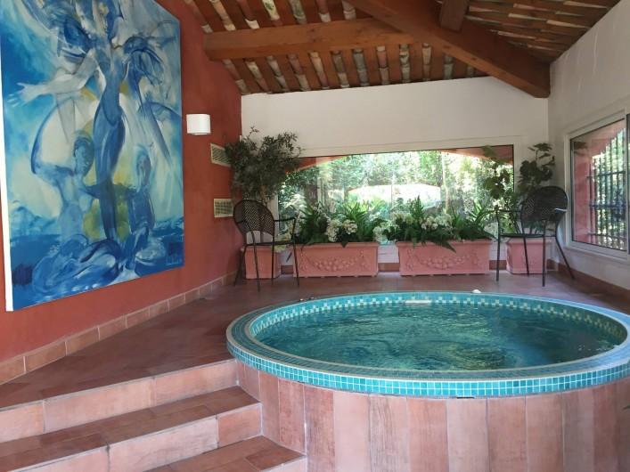 Location de vacances - Villa à Carros - spa en mosaïque de Briare