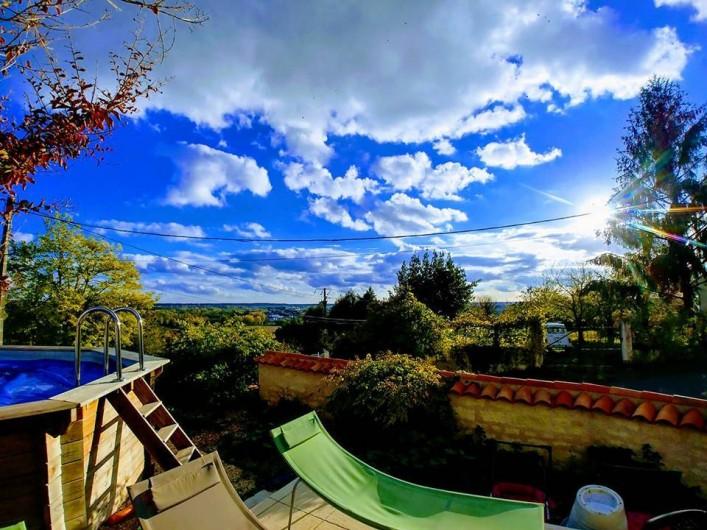Location de vacances - Chambre d'hôtes à Beaumont - Vue de la piscine