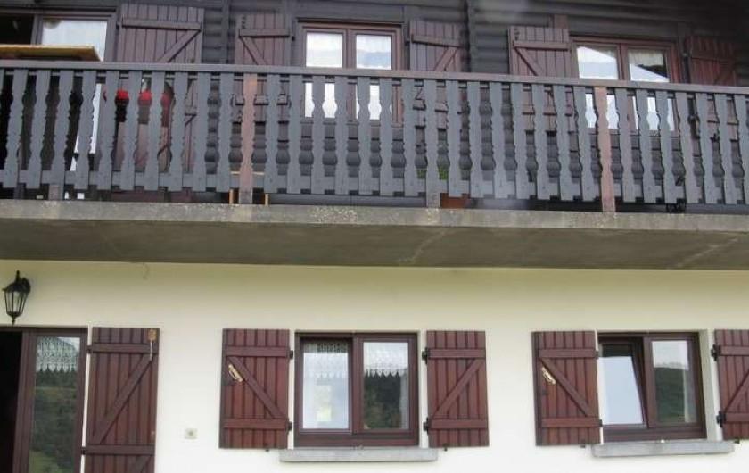 Location de vacances - Chalet à Bussang - La façade