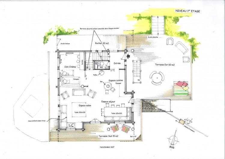 Location de vacances - Chalet à Manigod - Plan premier étage