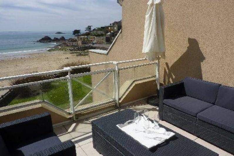 Location de vacances - Appartement à Saint-Malo - vue de la terrasse