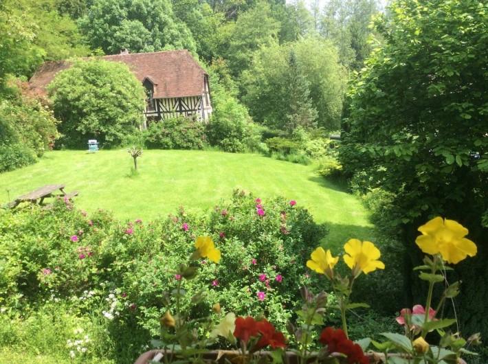 Location de vacances - Chambre d'hôtes à Heurtevent - Cour central