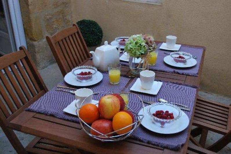 Location de vacances - Gîte à Sarlat-la-Canéda - La terrasse du gite