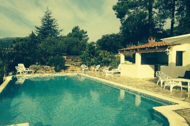 Location de vacances - Villa à Porto-Vecchio - Espace piscine chauffée   à débordement accessible de 10 h à 20 h