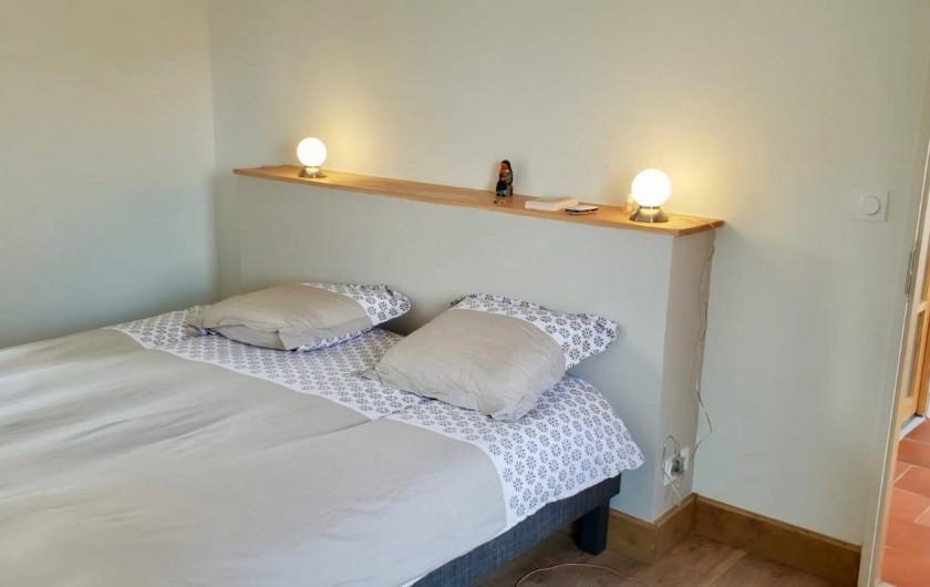 Location de vacances - Maison - Villa à Azincourt - Chambre 1 - Chambre au rez-de-chaussée. 2 lits jumeaux ou 1 grand lit