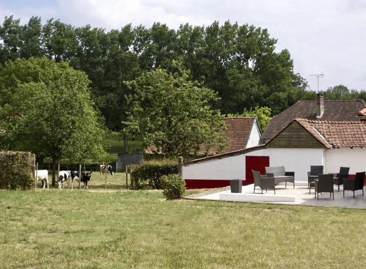 Location de vacances - Maison - Villa à Azincourt - Côté jardin (clos)