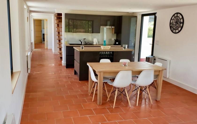 Location de vacances - Maison - Villa à Azincourt - Salle à manger avec une table avec rallonges