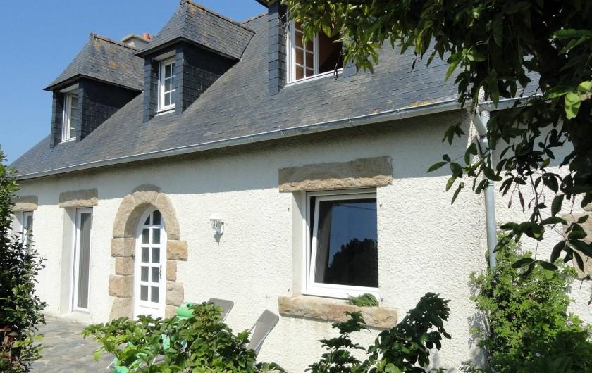 Location de vacances - Villa à Plougoulm - Maison coté sud avec terrasse