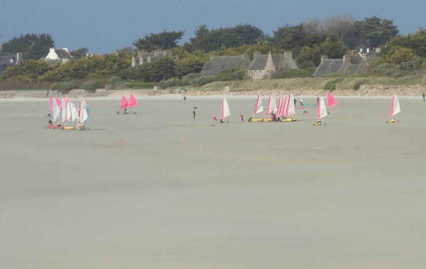 Location de vacances - Villa à Plougoulm - plage du dossen école de char à voile