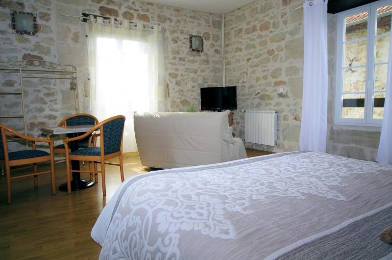 Location de vacances - Chambre d'hôtes à La Madeleine - Chambre du grand gîte