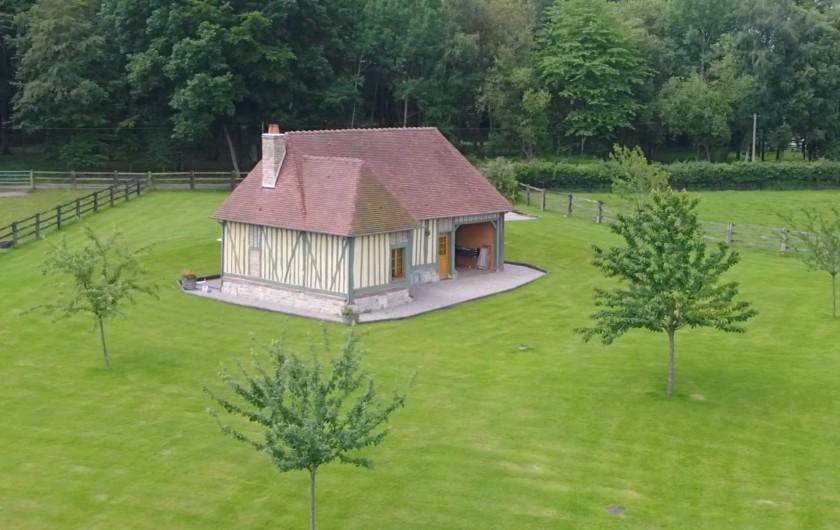 Location de vacances - Gîte à Saint-Germain-de-Livet - vue du ciel