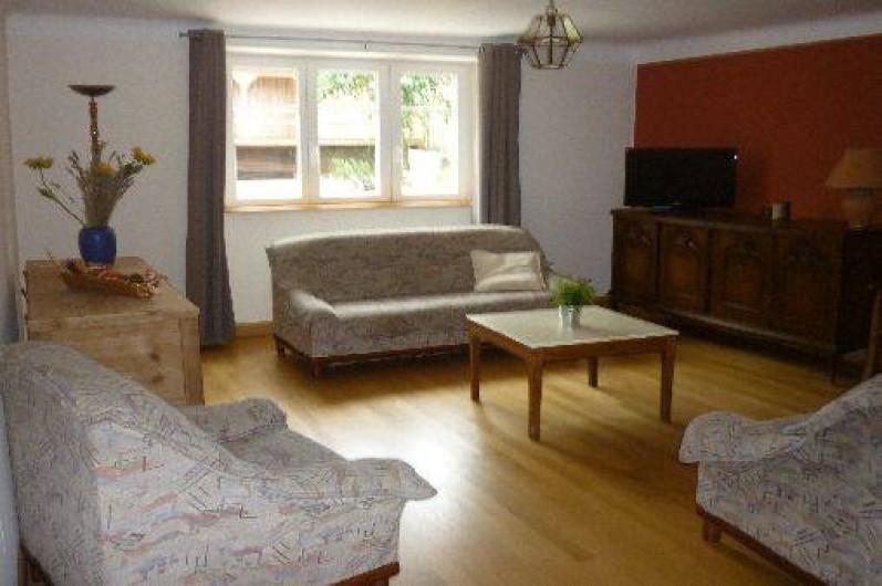 Location de vacances - Gîte à Ranrupt - SALON avec un fauteuil, & canapé 2 places 1 canapé 3 places