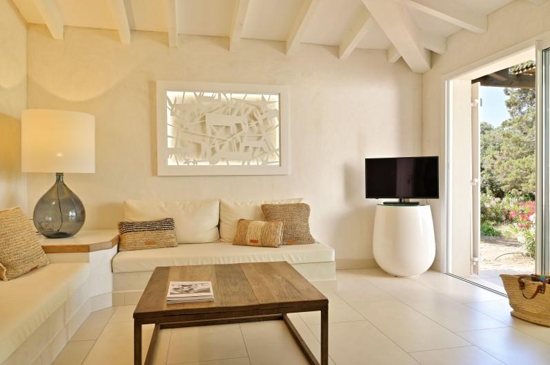 Location de vacances - Villa à Bonifacio - Vue de nuit sur Bonifacio