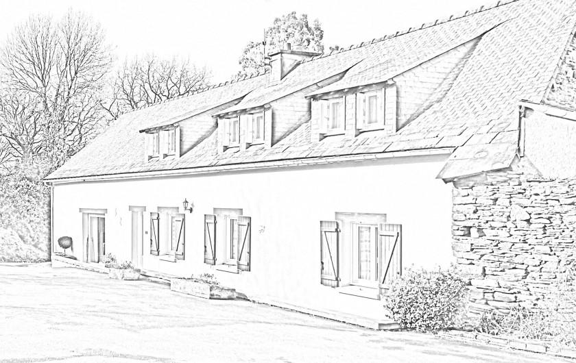 Location de vacances - Gîte à Saint-Igeaux - façade sud