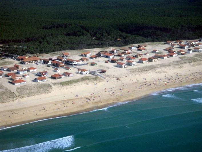 Location de vacances - Villa à Vielle-Saint-Girons - Vue aérienne générale de la station de St Girons plage