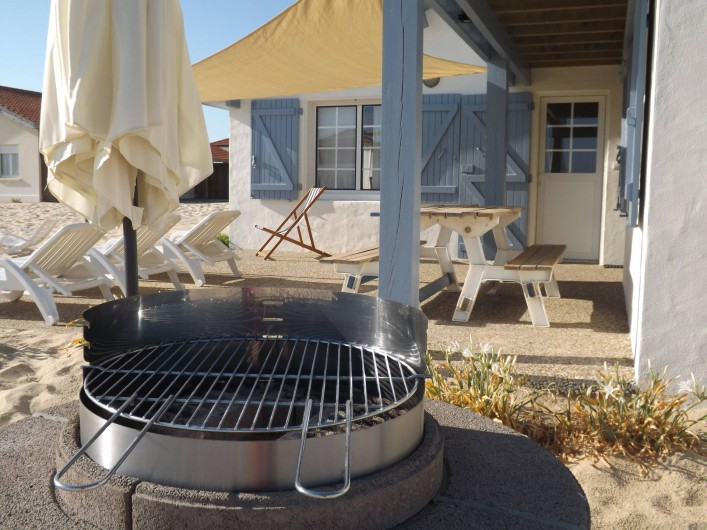 Location de vacances - Villa à Vielle-Saint-Girons - Barbecue circulaire fixe à charbon de bois