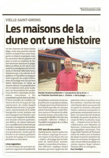 Location de vacances - Villa à Vielle-Saint-Girons - Le propriétaire, auteur d'un livre sur l'histoire Saint-Girons Plage