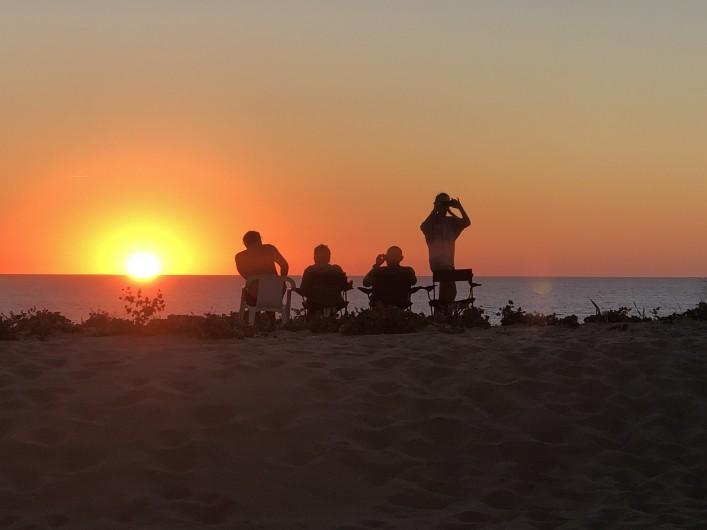 Location de vacances - Villa à Vielle-Saint-Girons - Superbe couché de soleil sur la dune