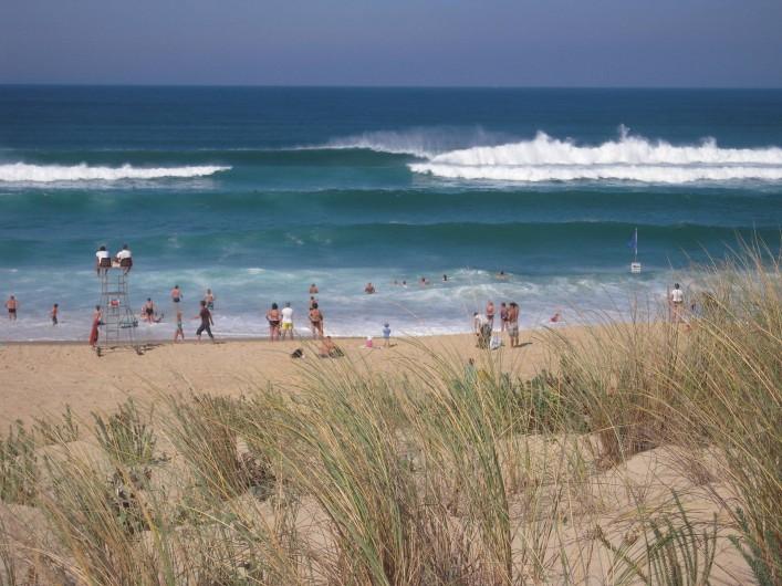Location de vacances - Villa à Vielle-Saint-Girons - L'océan vue du haut de la dune