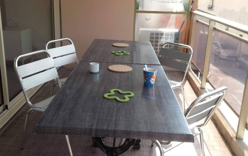 Location de vacances - Appartement à Juan les Pins - la terrasse