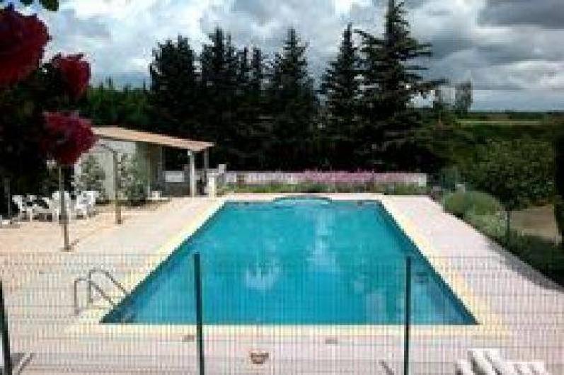 Location de vacances - Villa à Cazouls-lès-Béziers - Piscine a l'est de la villa. local technique,douche,wc, cabinet de toilettes
