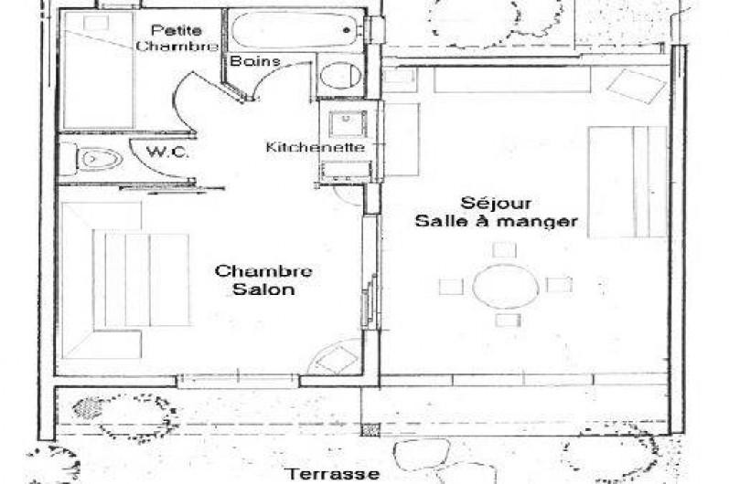 Location de vacances - Mas à La Croix-Valmer - Plan de la maison