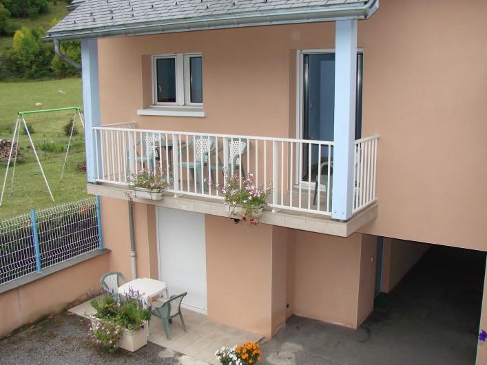 Location de vacances - Appartement à Guchen - Balcon d'un appartement