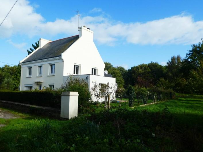 Location de vacances - Villa à Larmor-Baden - Maison vue de la rue