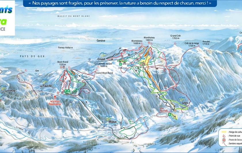 Location de vacances - Appartement à Lélex - Pistes de Ski sur le domaine de Monts Jura