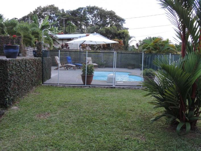 Location de vacances - Villa à Gros-Morne - Piscine avec barrière de sécurité