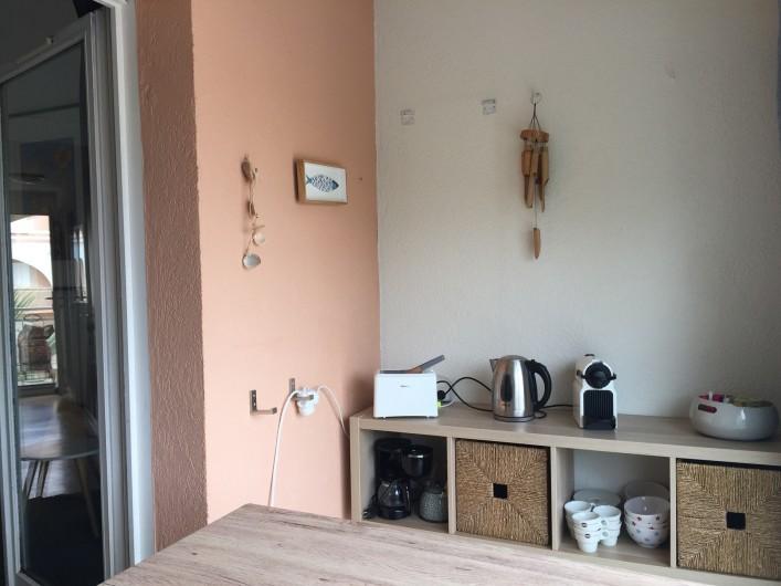 Location de vacances - Appartement à Sète - coin balcon