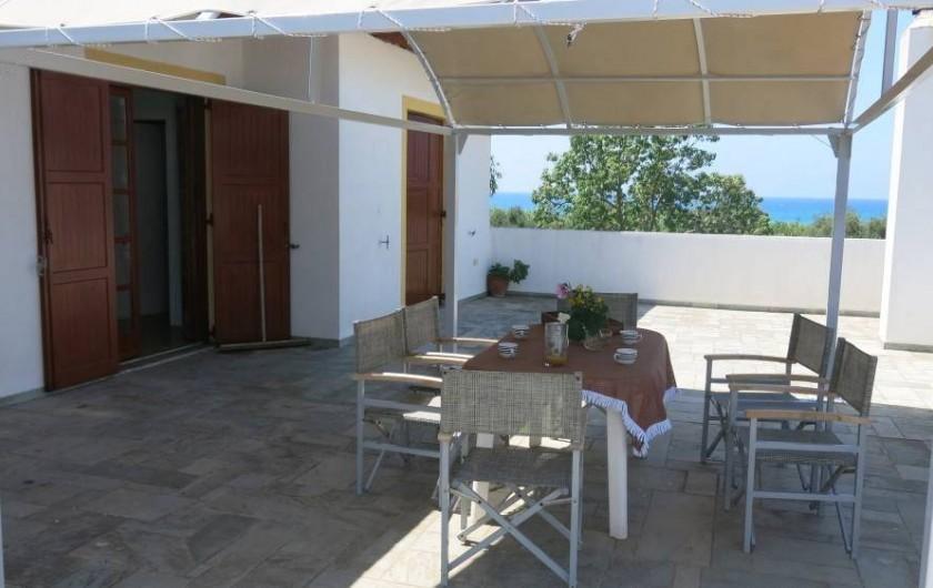 Location de vacances - Chalet à Kakovatos - LA TERASSE VUE MER /MASTER ROOM 2