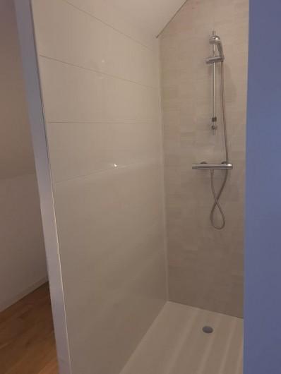 Location de vacances - Gîte à Bournezeau - salle de douche avec wc chambre romantique