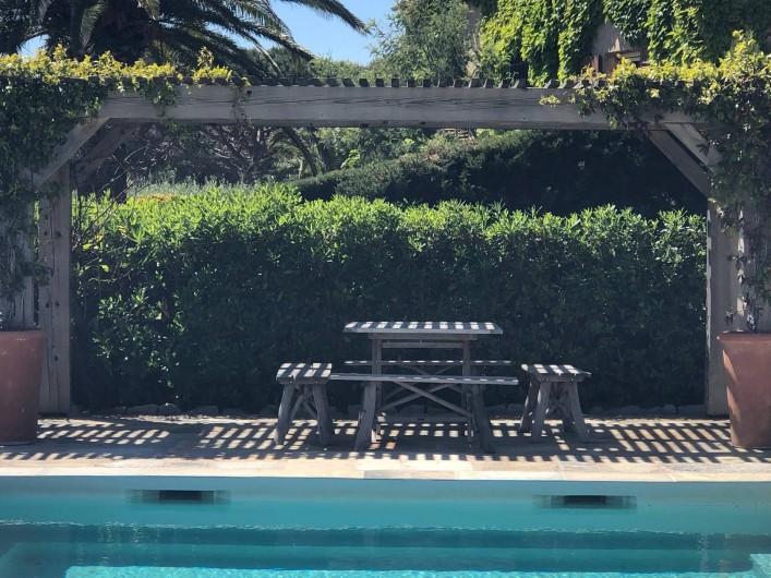 Location de vacances - Villa à Sainte-Maxime - table piscine