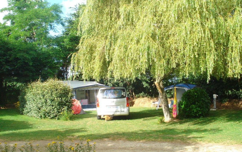 Location de vacances - Camping à Clohars-Carnoët - De grans emplacements