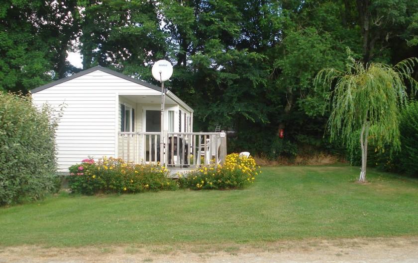 Location de vacances - Camping à Clohars-Carnoët - Mobil-home confortables sur grandes parcelles