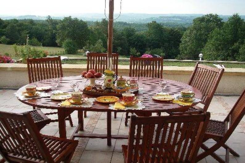 Location de vacances - Chambre d'hôtes à Saint-Raphaël - terrasse petit dejeuner