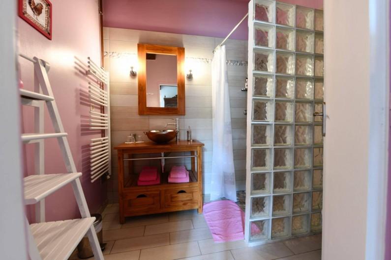 Location de vacances - Chambre d'hôtes à Monein - La salle de bain Eugenie