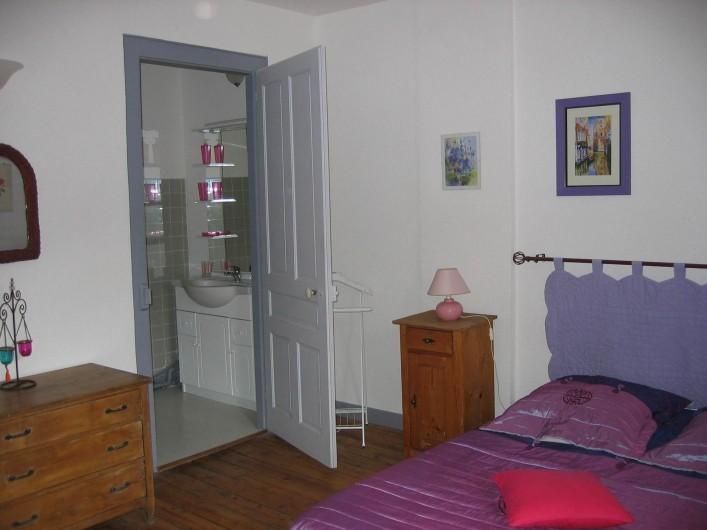 Location de vacances - Gîte à Malbuisson - chambre mauve gite 8 personnes