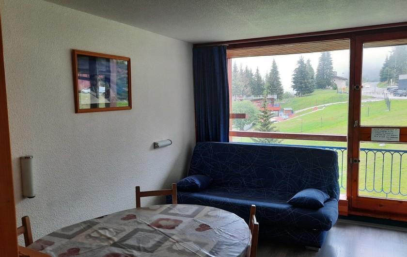 Location de vacances - Appartement à Arc 1800 - CANAPE SALON CONVERTIBLE