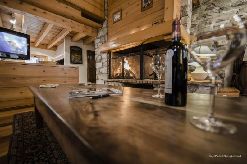 Location de vacances - Chalet à Val-d'Isère - Salon-Cheminée