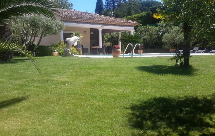 Location de vacances - Villa à Mougins - jardin villa