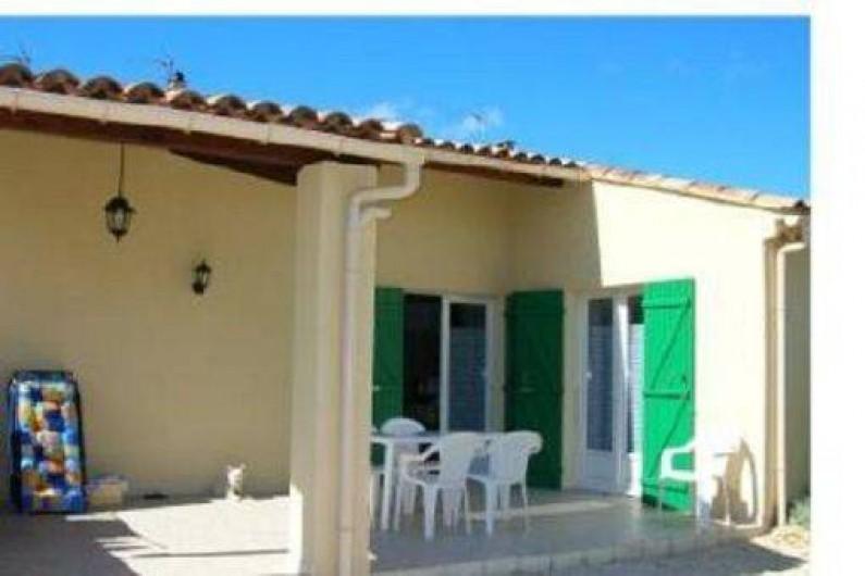 Location de vacances - Gîte à Saint-Romain-en-Viennois - Terrasse Gite 3 semi couverte + Store à manivelle