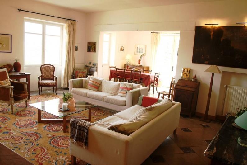 Location de vacances - Mas à Valréas - Le salon et la salle à manger
