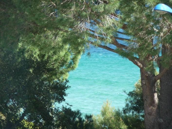 Location de vacances - Studio à Cavalaire-sur-Mer - vue depuis un studio